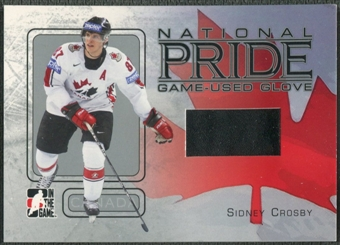 2006/07 ITG Heroes and Prospects #NP02 Sidney Crosby National Pride Glove /80