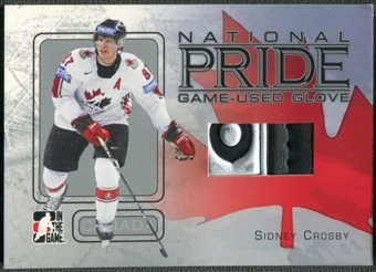 2006/07 ITG Heroes and Prospects #NP02 Sidney Crosby National Pride Glove Logo /80