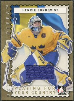2006/07 Between The Pipes #PC13 Henrik Lundqvist Playing For Your Country Gold Jersey /10
