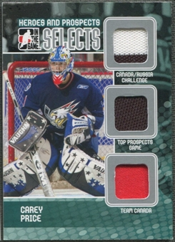 2009/10 ITG Heroes and Prospects #S04 Carey Price Selects Triple Jersey /19