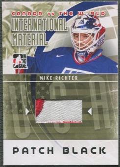 2011/12 ITG Canada vs The World #IM41 Mike Richter International Materials Patch Black /6