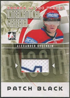 2011/12 ITG Canada vs The World #IM37 Alexander Ovechkin International Materials Patch Black /6