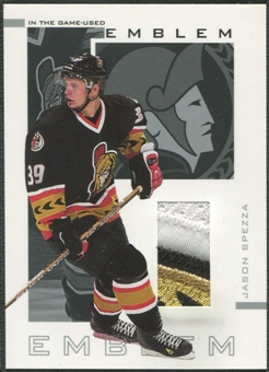 2002/03 ITG Used #E40 Jason Spezza Emblem /9