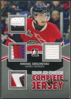 2012/13 ITG Heroes and Prospects #CJ02 Mikhail Grigorenko Complete Jersey Stamped Montreal #1/1