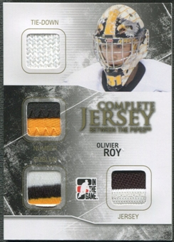 2009/10 Between The Pipes #CJ08 Olivier Roy Complete Jersey Number Emblem Tie-Down Gold #1/1