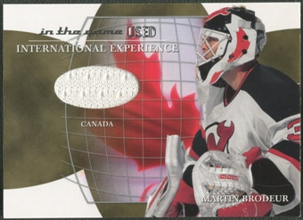 2003/04 ITG Used Signature Series #1 Martin Brodeur International Experience Gold Jersey /10