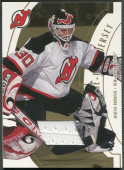 2002/03 ITG Used #FR18 Martin Brodeur Franchise Players Gold Jersey /10