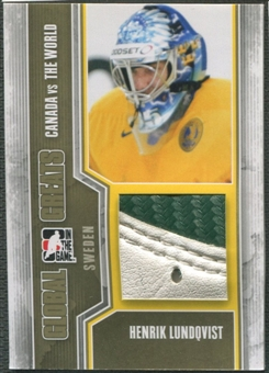 2011/12 ITG Canada vs The World #GG24 Henrik Lundqvist Global Greats Gold Pad /10