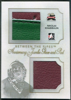 2011/12 Between The Pipes #AJGP05 Nikolai Khabibulin Anniversary Jumbo Glove and Pad /10