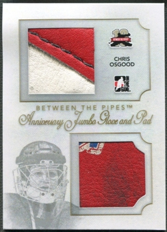 2011/12 Between The Pipes #AJGP07 Chris Osgood Anniversary Jumbo Glove and Pad /10