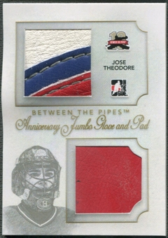 2011/12 Between The Pipes #AJGP10 Jose Theodore Anniversary Jumbo Glove and Pad /10