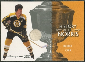 2003/04 ITG Used Signature Series #7 Bobby Orr Norris Trophy Jersey /50