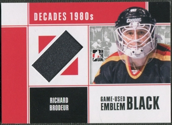 2010/11 ITG Decades 1980s #M54 Richard Brodeur Game Used Emblem Black /6