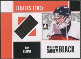 2010/11 ITG Decades 1980s #M58 Ron Hextall Game Used Emblem Black /6