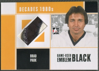 2010/11 ITG Decades 1980s #M64 Brad Park Game Used Emblem Black /3