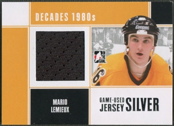 2010/11 ITG Decades 1980s #M68 Mario Lemieux Game Used Jersey Silver /30