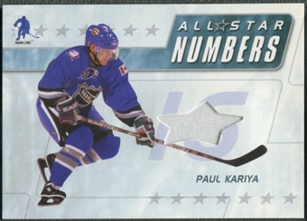 2003/04 BAP Memorabilia #ASN2 Paul Kariya All-Star Numbers Jersey /20