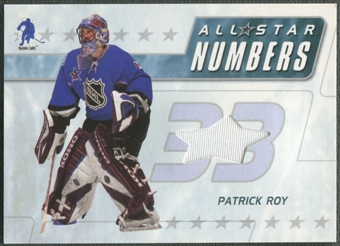 2003/04 BAP Memorabilia #ASN4 Patrick Roy All-Star Numbers Jersey /20