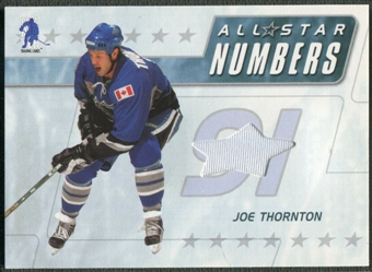2003/04 BAP Memorabilia #ASN10 Joe Thornton All-Star Numbers Jersey /20