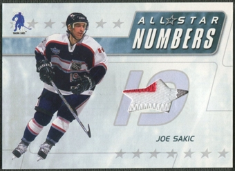 2003/04 BAP Memorabilia #ASN16 Joe Sakic All-Star Numbers Jersey /20
