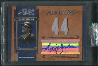 2004 Prime Cuts II #22 Reggie Jackson MLB Icons Signature Material Number Jersey Auto #33/44