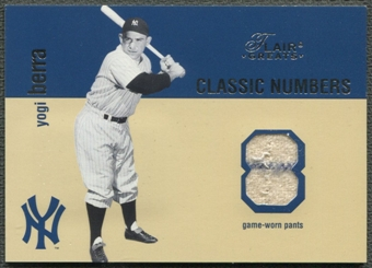 2003 Flair Greats Classic #2 Yogi Berra & Thurman Munson Numbers Game Used Dual Pants #224/250