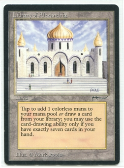 Magic the Gathering Arabian Nights Single Library of Alexandria - SLIGHT PLAY (SP)