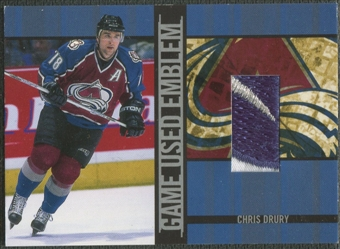 2001/02 BAP Signature Series #GUE17 Chris Drury Emblem /10