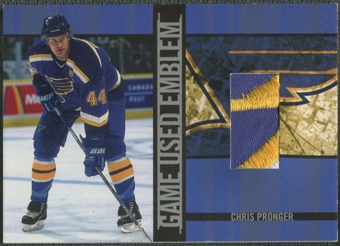 2001/02 BAP Signature Series #GUE23 Chris Pronger Emblem /10