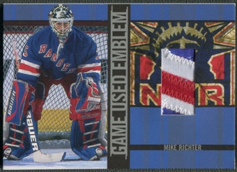 2001/02 BAP Signature Series #GUE39 Mike Richter Emblem /10