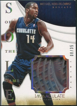 2013/14 Immaculate Collection #24 Michael Kidd-Gilchrist Sole of the Game Shoe #08/35
