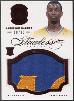 2012/13 Panini Flawless #1 Harrison Barnes Rookie Ruby Patch #10/15