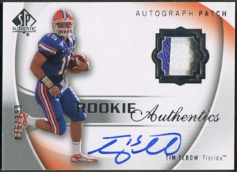 2010 SP Authentic #108 Tim Tebow Rookie Patch Auto #079/299