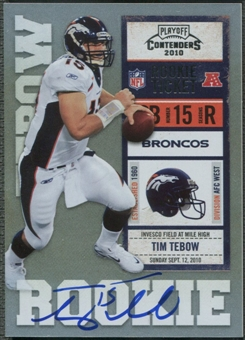 2010 Playoff Contenders #234B Tim Tebow White Jersey Rookie Auto /400