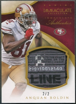 2014 Immaculate Collection #47 Anquan Boldin Immaculate Authentics Tag #2/2