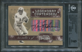 2001 Playoff Contenders #41 Ken Stabler Legendary Contenders Auto /100 BGS 9