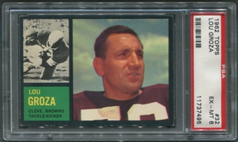 1962 Topps Football #32 Lou Groza PSA 6 (EX-MT)
