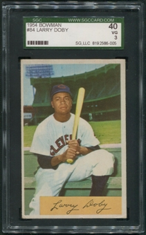 1954 Bowman Baseball #84 Larry Doby SGC 40