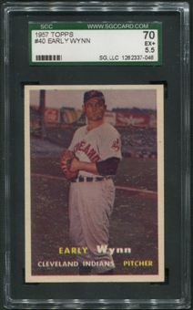 1957 Topps Baseball #40 Early Wynn SGC 70