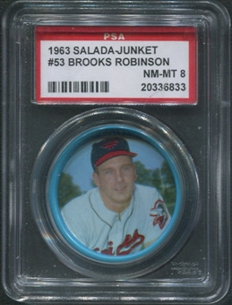 1963 Salada Junket Coins Baseball #53 Brooks Robinson PSA 8 (NM-MT)