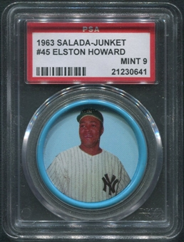1963 Salada Junket Coins Baseball #45 Elston Howard PSA 9 (MINT)