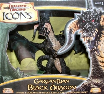 WOTC Dungeons & Dragons Miniatures Gargantuan Black Dragon Figure (Box)