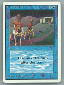 Magic the Gathering Unlimited Single Time Walk - NEAR MINT/SLIGHT PLAY (NM/SP)