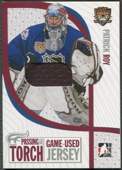 2005 ITG #PTT10 Patrick Roy Passing the Torch Memorabilia Jersey /100