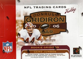2006 Donruss Gridiron Gear Football Hobby Box