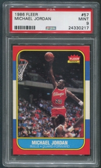 1986/87 Fleer Basketball #57 Michael Jordan Rookie PSA 9 (MINT)