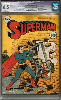 Superman #5 CGC 6.5 Restored (LT-OW) *0917822016*