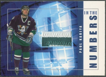 2001/02 BAP Signature Series #ITN1 Paul Kariya In The Numbers Patch /10