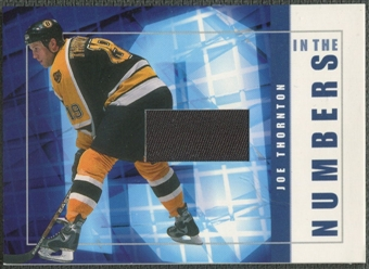 2001/02 BAP Signature Series #ITN3 Joe Thornton In The Numbers Patch /10