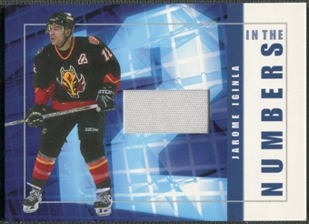 2001/02 BAP Signature Series #ITN11 Jarome Iginla In The Numbers Patch /10